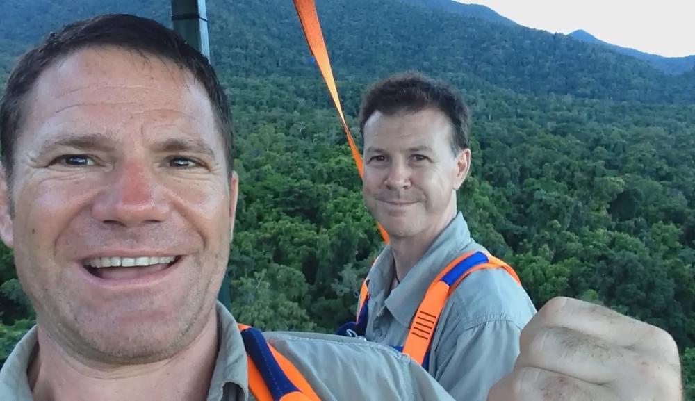 Steve Backshall and Alan Henderson